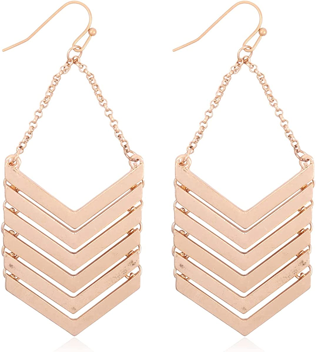 Large special price !! Simple Large-scale sale Geometric Shield Drop Statement Bohemian Earrings - Curve