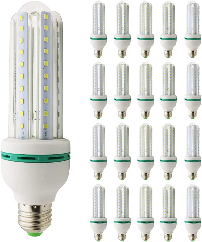 Mengjay LED Lampen E27 U-frmige Lampe Spirale Leuchtenkopf, 12W(ersetzt 100W), Kaltweies 6000K, 1200 Lumen, 53  170cm (20 Stück)