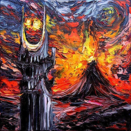 CANVAS PRINT van Gogh Never Saw The Land of Shadow by Aja 8x8, 10x10, 12x12, 16x16, 20x20, 24x24, 30x30, 36x36, 40x40 inches Mount Doom Sauron
