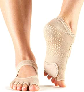 Women's Plie Half Toe Grip for Yoga, Pilates, Barre, Dance, Toe Socks With LEATHER PAD