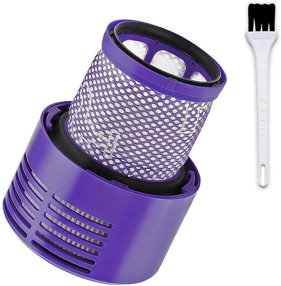 Queta filtro per dyson v10 filtro di ricambio lavabile per aspirapolvere dyson v10 sv12 serie