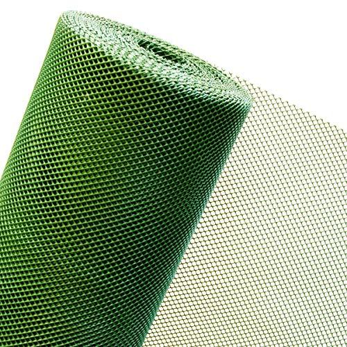 1,2 M² FILET en plastique pour clôture 1,2 m Largeur x 1 m filet en plastique Garden Gate Vent Reptile Animaux maille 5 mm/en plastique vert/vendu par au mètre/120BIS 7RT Aiguille Buse