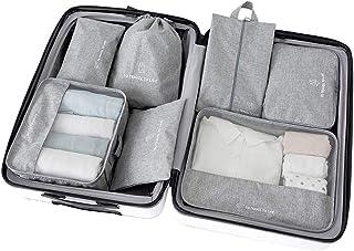 Pursue トラベルポーチ 7点セット パッキングポーチ アレンジケース 旅行用 出張 整理 便利グッズ 衣類 靴用 下着収納 洗面用具 PC周辺小物入れ