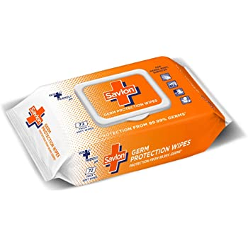 Savlon Germ Protection Wet Wipes - 72 Wipes | Multi Purpose | Fights Germs on Hands, Body and Surfaces | Easy to Carry | Use at home, office, in car and out of home