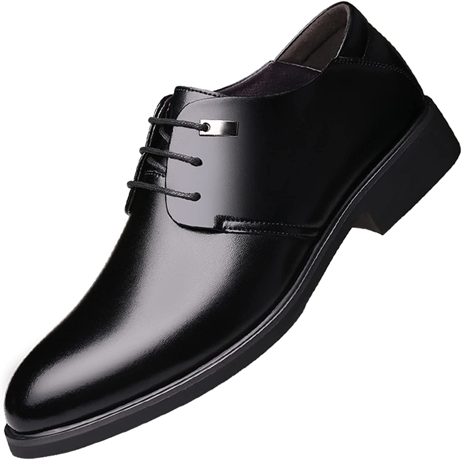 Men's Oxford Dress Casual Shoe Classic Formal Toe Oxfords Leather Men for Wingtip Up Lace up Business 2280