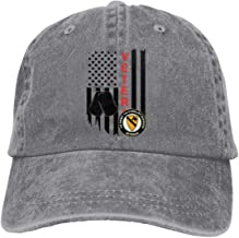 US Flag Army Veteran 1st Cavalry Division Vintage Adjustable Denim Hat Baseball Caps for Man and Woman