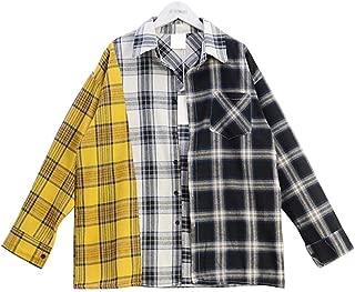 BTS Shirt Bangtanboys Suga Style Colour Matching Plaid Shirt Blouse Jacket