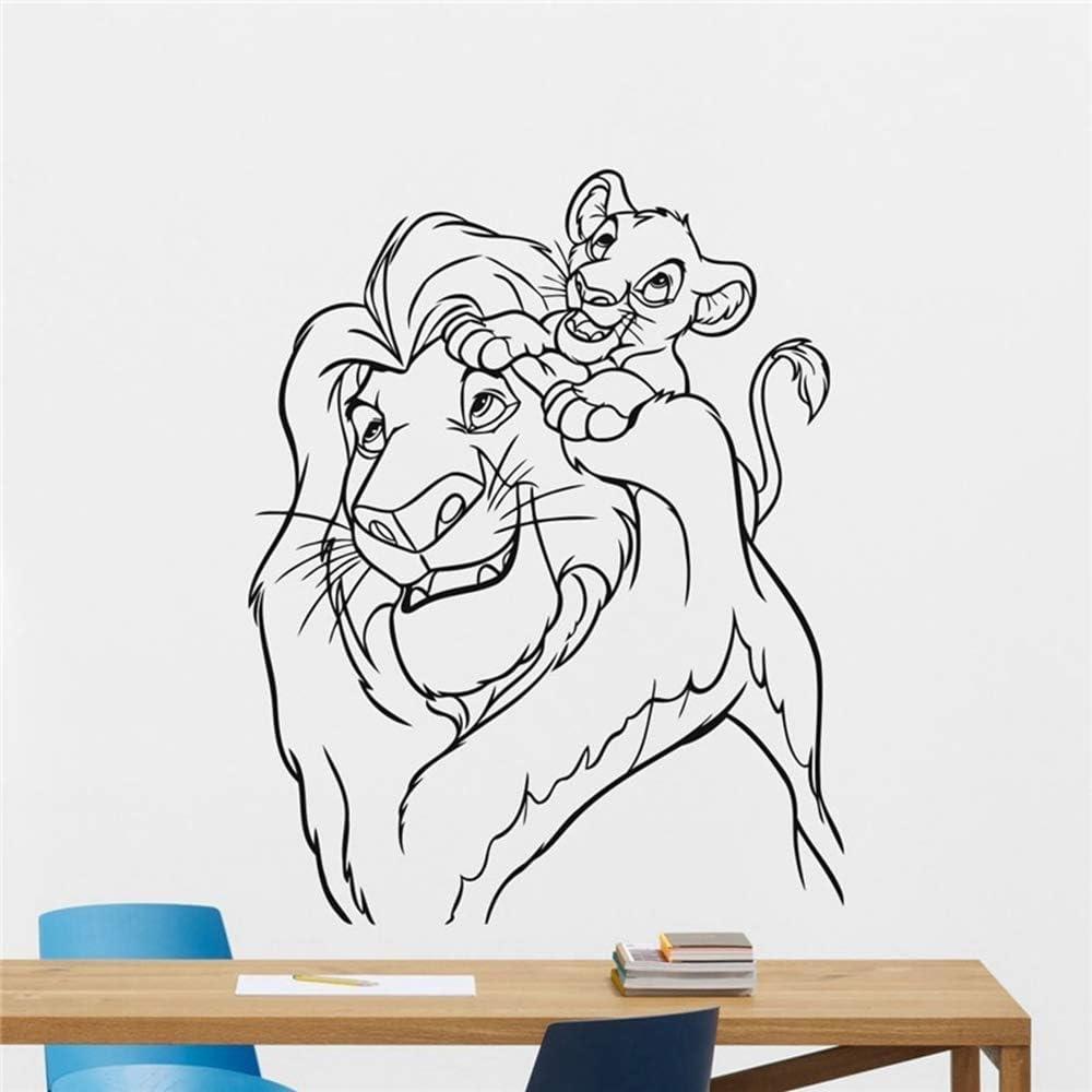 Lion King Autocollant Mural Stickers Roi Lion D/écalque De Dessins Anim/és Vinyle Autocollant Simba Nursery Sticker Mural Enfants Chambre De B/éb/é Mur Art Mural Enfants Murale