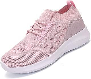 AoSiFu Women's Lightweight Walking Shoes Breathable Sneakers Mesh Tennis Shoes for Women