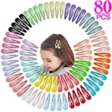 Jiaron 80PCS Hair Clips, 2 Inch Non-Slip Metal Hair Barrettes for Girls, Kids, Baby and Wo...