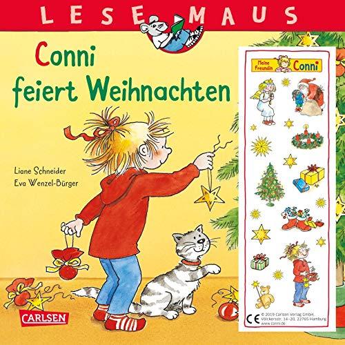 LESEMAUS 58: Conni feiert Weihnachten (2019): Mit weihnachtlichem Glitzer-Aufkleber (58)