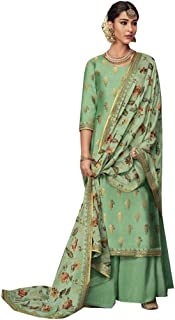 Pista Palazzo Suits Collection for Wedding Salwar Kameez Style Dress Muslim Sharara Wedding Custom to Measure Dola Silk Eid 8406
