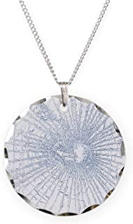CafePress - Broken Glass 2 White - Charm Necklace with Round Pendant