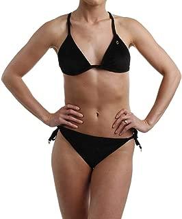 Womens Velour Logo Bikini Swimsuit