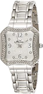 Charisma Women's White Dial Silver Band Watch - 6627
