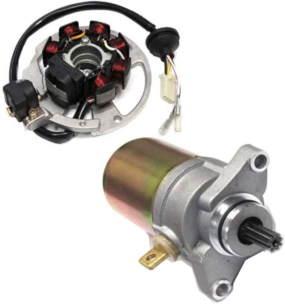 Caltric Stator Starter Compatible With Scrambler Polaris 90 Spring Credence new work one after another 20