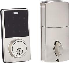 Amazon Basics Electronic Deadbolt Door Lock, Classic, Satin Nickel