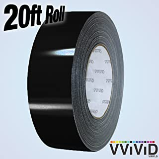 VViViD Gloss Vinyl Detailing Wrap Tape 2 Inch x 20ft DIY Roll (Gloss Black)