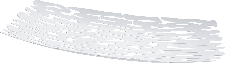 Alessi Bm01 W Bark Centre de Table en Acier Couleuré à la Résine Au époxyde, Blanc
