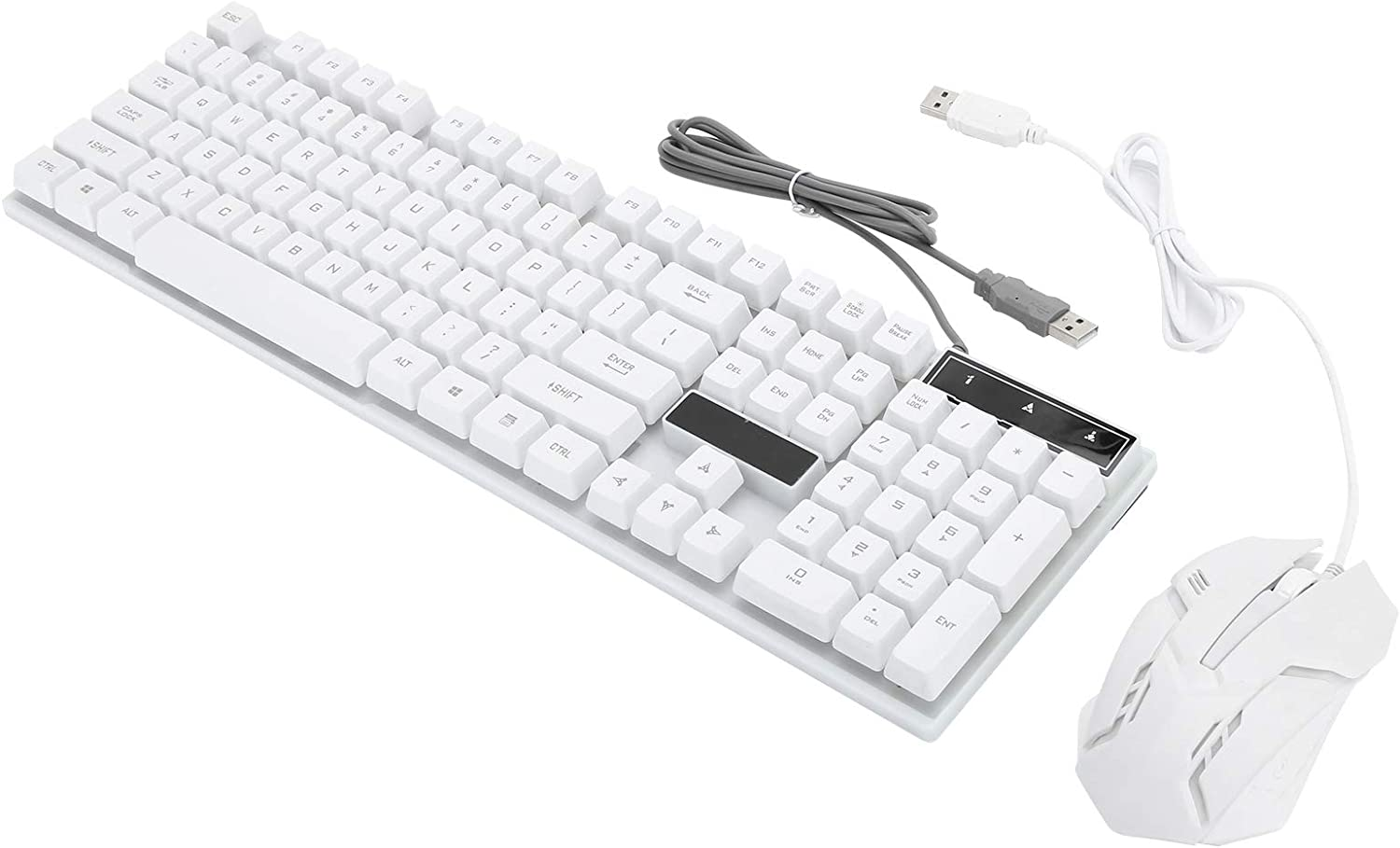 Beautiful Durable Keyboard Mouse Combo Personalized Computer Accessory Wired Keyboard 104Keys Keyboard for Desktop for Computer for Laptop