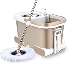 360° Floor Magic Spin Mop Bucket and Microfiber Rotating Dry Heads with Heads