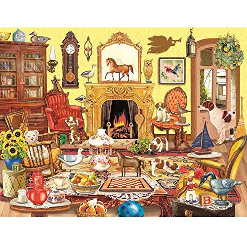CXIANHUI Puzzle 1000 Teile Erwachsene,Niedliche Tier Partei Themen Puzzle Sets Für Familie, Hölzern Rätsel, Lernspiele, Brain Challenge Puzzle Für Kinder Kinder