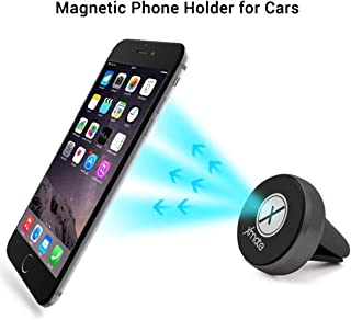 Xmate Universal Magnetic Mobile Car Holder, Air Vent Mobile Car Holder, 360 Degree Rotation, Metal Alloy Body and Compact Design, Compatible with All Smartphones