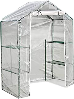 Gardening Greenhouse Patio Walk-in Flower Planting Protective Cover Large Capacity Storage Transparent PE Rainproof Cold P...