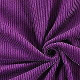 Fabulous Fabrics Cord violett, Uni, 142cm breit – Cord