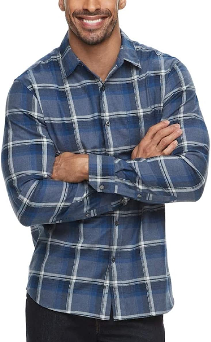 Apt 9 Brushed Flannel Button-Down Shirt