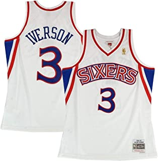 Best allen iverson white sixers jersey Reviews