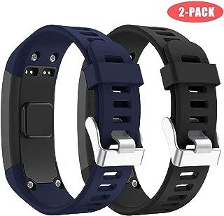 Junboer Compatible Garmin Vivosmart HR Watch Band, Accessories Silicone Replacement Wrist Watch Strap for Garmin Vivosmart HR SmartWatch(NOT for Vivosmart HR+), Only for 4PK (Black+Midnight Blue)