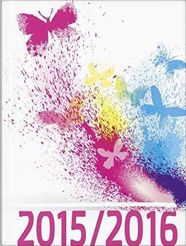 BRUNNEN Taschenkalender Schülerkalender , Kalendarium 2015/16, Schmetterling, 2 Seiten = 1 Woche, 120 x 160 mm, (107296206)