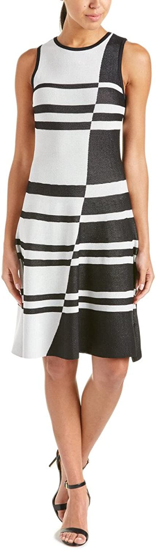 Catherine Malandrino Womens colorBlock Fit & Flare Casual Dress B W L