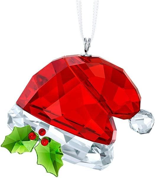 SWAROVSKI Santa S Hat Multi Colour Crystal Ornament 3 5 X 4 X 2 4 Cm