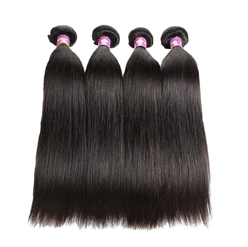 舞い上がる正当化する百女性ストレート人間の髪の毛8Aバージンブラジルの髪の毛ストレートバンドル絹のような柔らかいブラジルの髪のバンドル