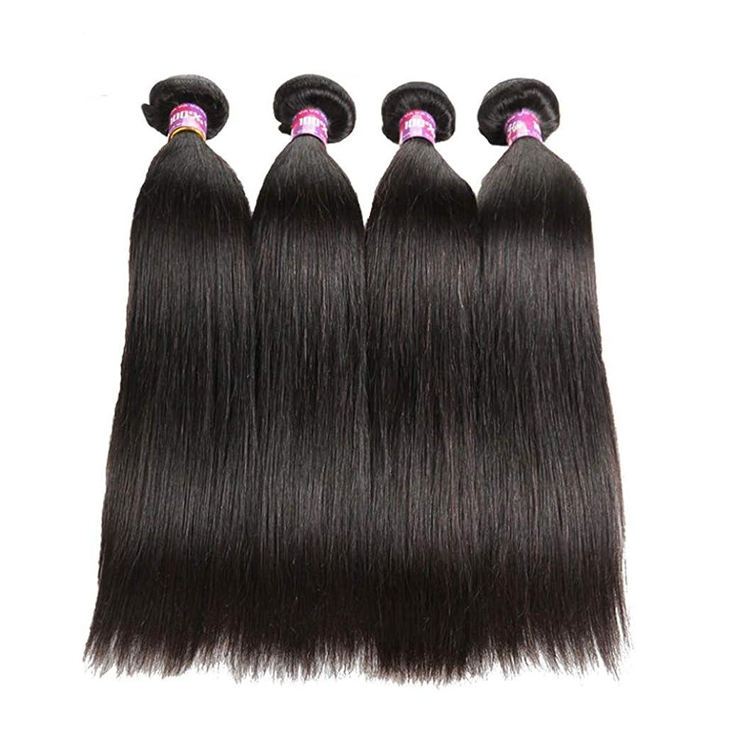 取り扱い変数中世の女性ストレート人間の髪の毛8Aバージンブラジルの髪の毛ストレートバンドル絹のような柔らかいブラジルの髪のバンドル