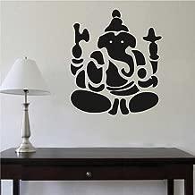 Rawpockets 'Ganapati Bapa' Wall Sticker (PVC Vinyl, 50 cm x 58cm, Black RPWD1327)