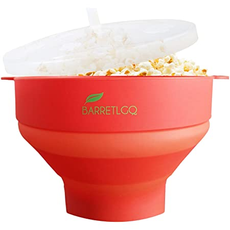 Silicone Microwave Popcorn Popper with Lid for Home Microwave Popcorn Makers with Handles Collapsible Popcorn Bowl