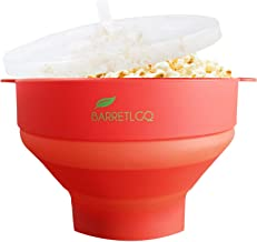 Silicone Microwave Popcorn Popper with Lid for Home Hot Air Microwave Popcorn Makers with Handles Collapsible Popcorn Bowl