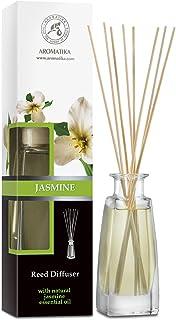 Diffuseur Parfum de Jasmine 100ml - avec Huile Essentielle Naturelle de Jasmin - Fragrance Fraîche et Durable - Kit Diffus...