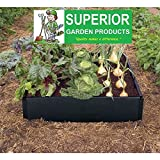 Large rot proof Raised Bed Kit in smart black plastic. Weatherproof and tough. No tools required. Stack for deep or wheelchair beds. Vegetables flowers or herb gardening. By Superior Garden Products