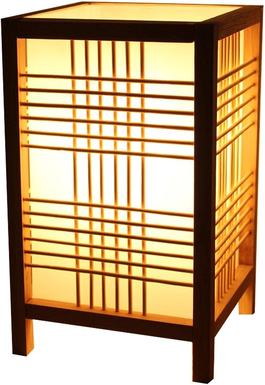GYH Schreibtischlampen Japanischen Stil Tischlampe, Einfache Massivholz Schlafzimmer Nachttischlampe, Kreative Warme Tee Room Bar Dekorative Lichter Beleuchtung zu Hause