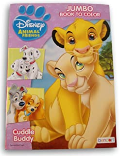 Animal Friends Big Fun Book to Color - Cuddle Buddies - 80 Pages - Inclues Lady and The Tramp, Bambi, Lion King, and More