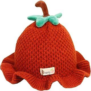 قبعة صغيرة جديدة جديدة الربيع للأطفال الصغار الأزياء المنسوجة الفاكهة الدافئة دلو