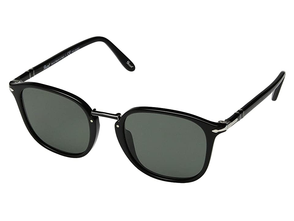 Persol 0PO3186S (Black/Green Polarized) Fashion Sunglasses