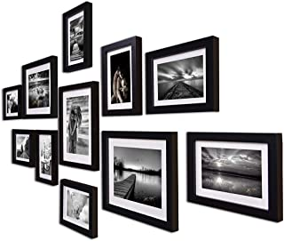 Art Street Boulevard Set of 11 Individual Photo Frames/Wall Hanging (8x10-3 pcs, 6x8-8 pcs)-Black