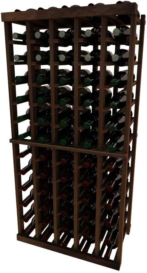 Vintner Series Wine Rack - 5 Column with Waln SEAL limited product Ft Pine 4 Dark Limited time sale