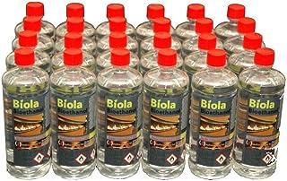Bioetanol BIOLA' de 96 L de combustible superior Reino Unido e Irlanda. Sin humo, sin olor y bioetanol para uso en fuegos y estufas.