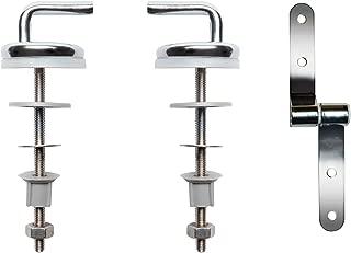Wirquin 20718162 fijación juego de acero inoxidable con madera comprimida asiento para inodoro con tapa